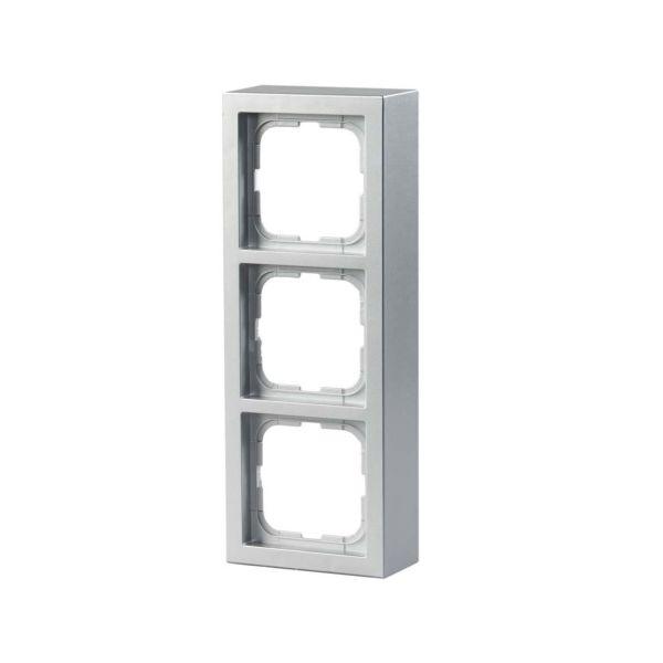 ABB Impressivo Forhøyningsramme aluminium 3 rom