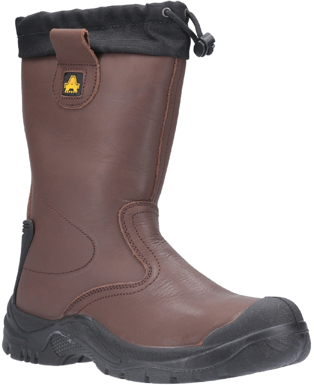Amblers Unisex Safety Antistatic Pull On Rigger Boot Brown 28126 - Brown 4