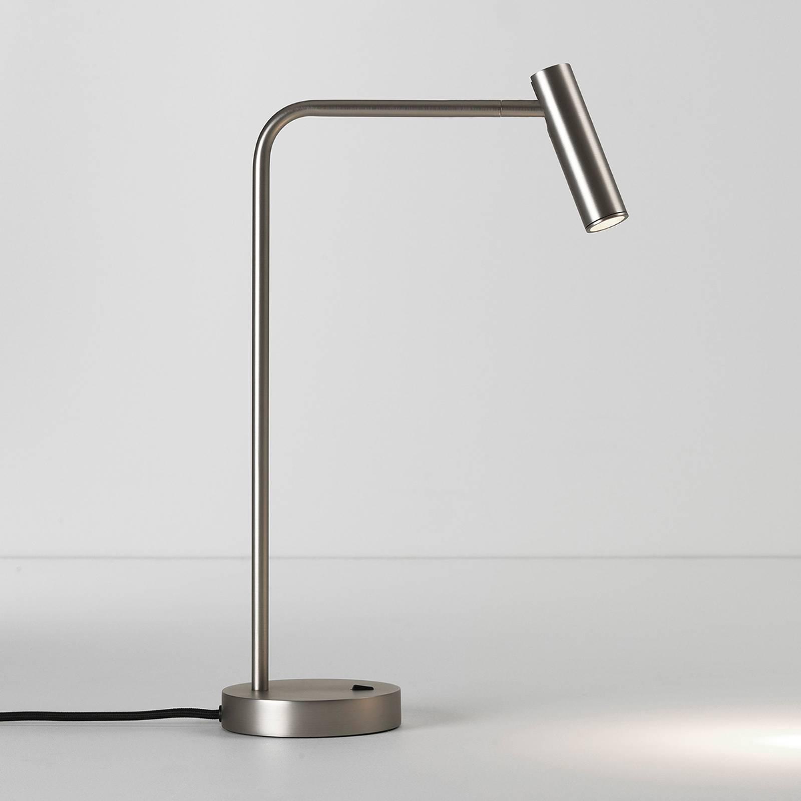 Astro Enna -LED-pöytälamppu, mattanikkeli