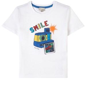 Paul Smith Junior Camera Print T-shirt Vit 3 år
