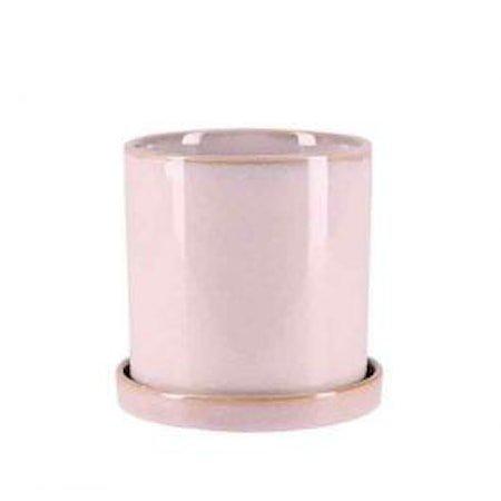 Krukke Med Fat Rosa 12 cm