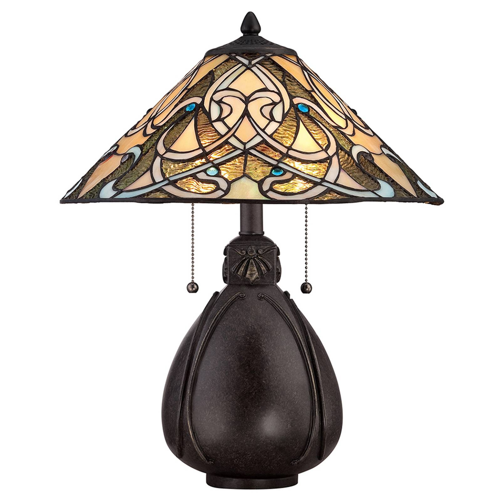 Bordlampe India i Tiffany-design