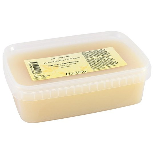 Crearome Ekologisk Glycerintvålmassa Semitransparent, 1 kg