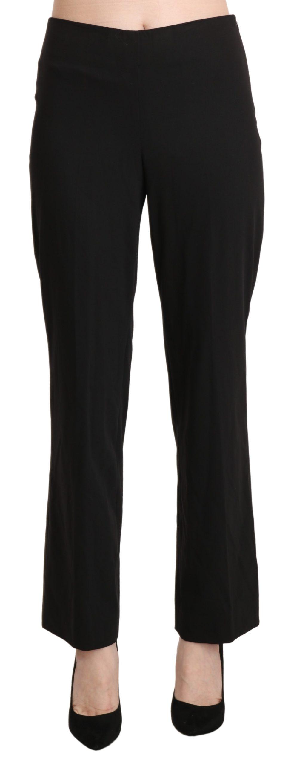 BENCIVENGA Women's Mid Waist Straight Formal Trousers Black PAN71326-42 - IT42 M