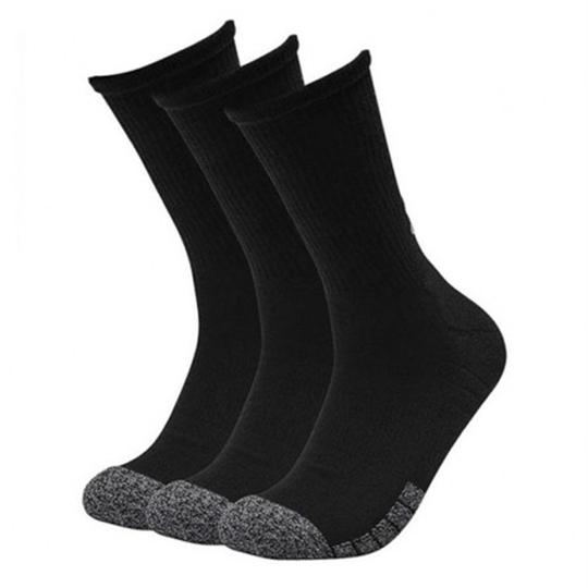 UA Heatgear Crew 3-pack Socks, Black