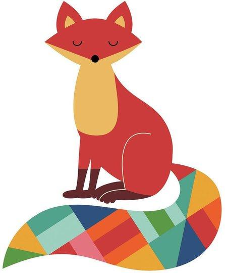 RoomMates Wallstickers Rainbow Fox