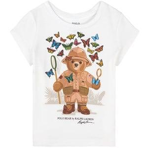 Ralph Lauren Butterfly Bear Print Tee Topp Vit 2 år