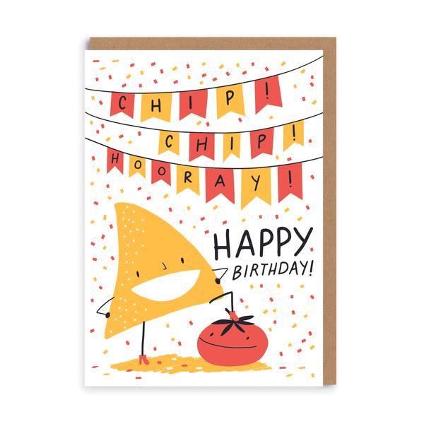 Chip Chip Hooray Birthday Greeting Card