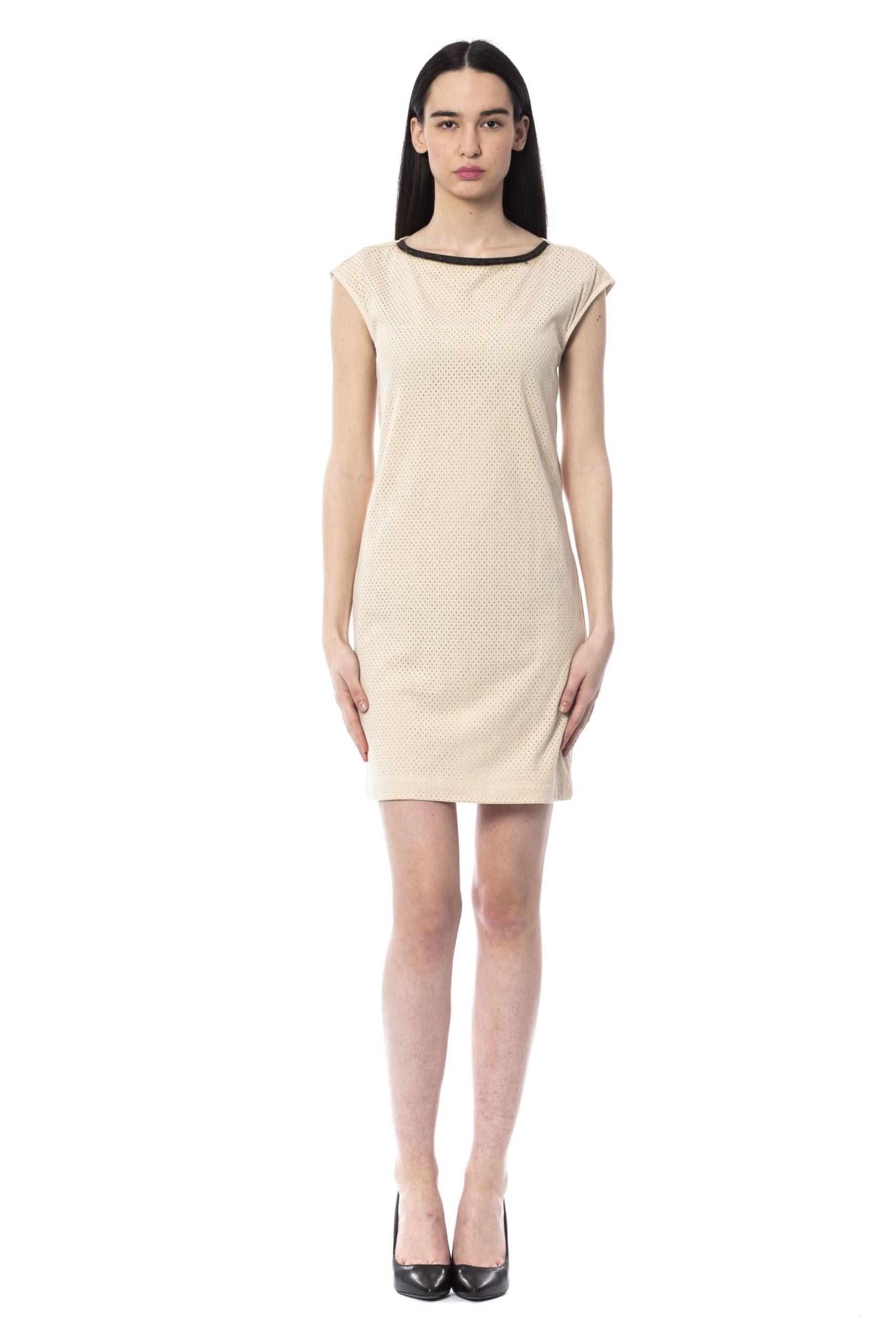 Byblos Women's Avorio Dress Beige BY994828 - IT44   M