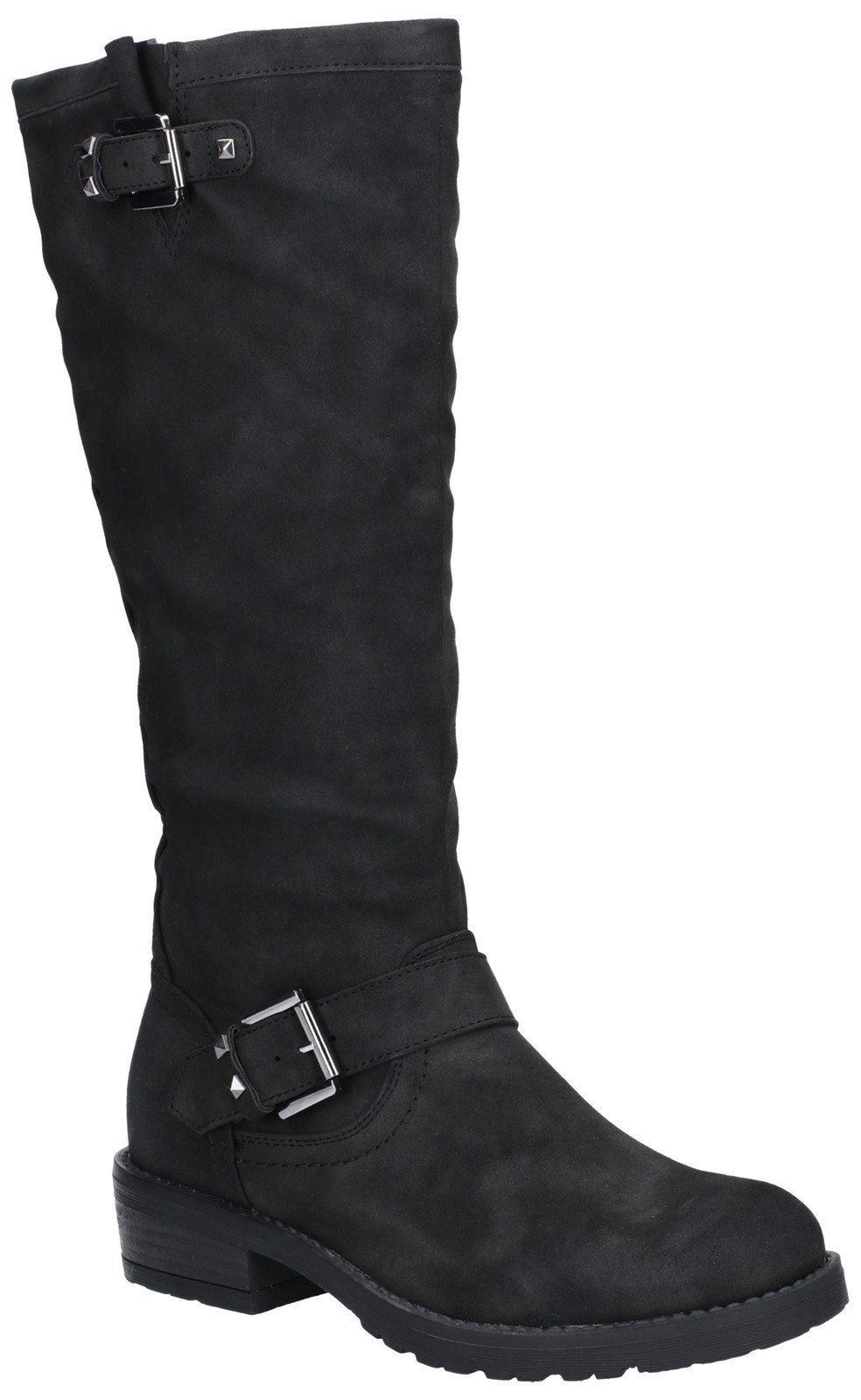 Divaz Women's Courtney Zip Up Boot Black 27167-45653 - Black 3