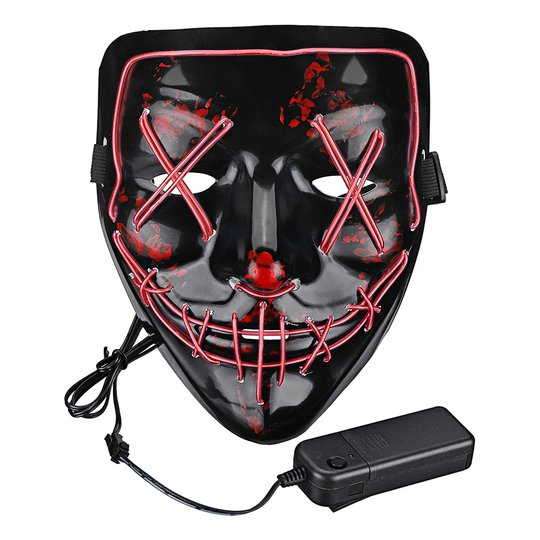El Wire Purge LED Mask - Röd