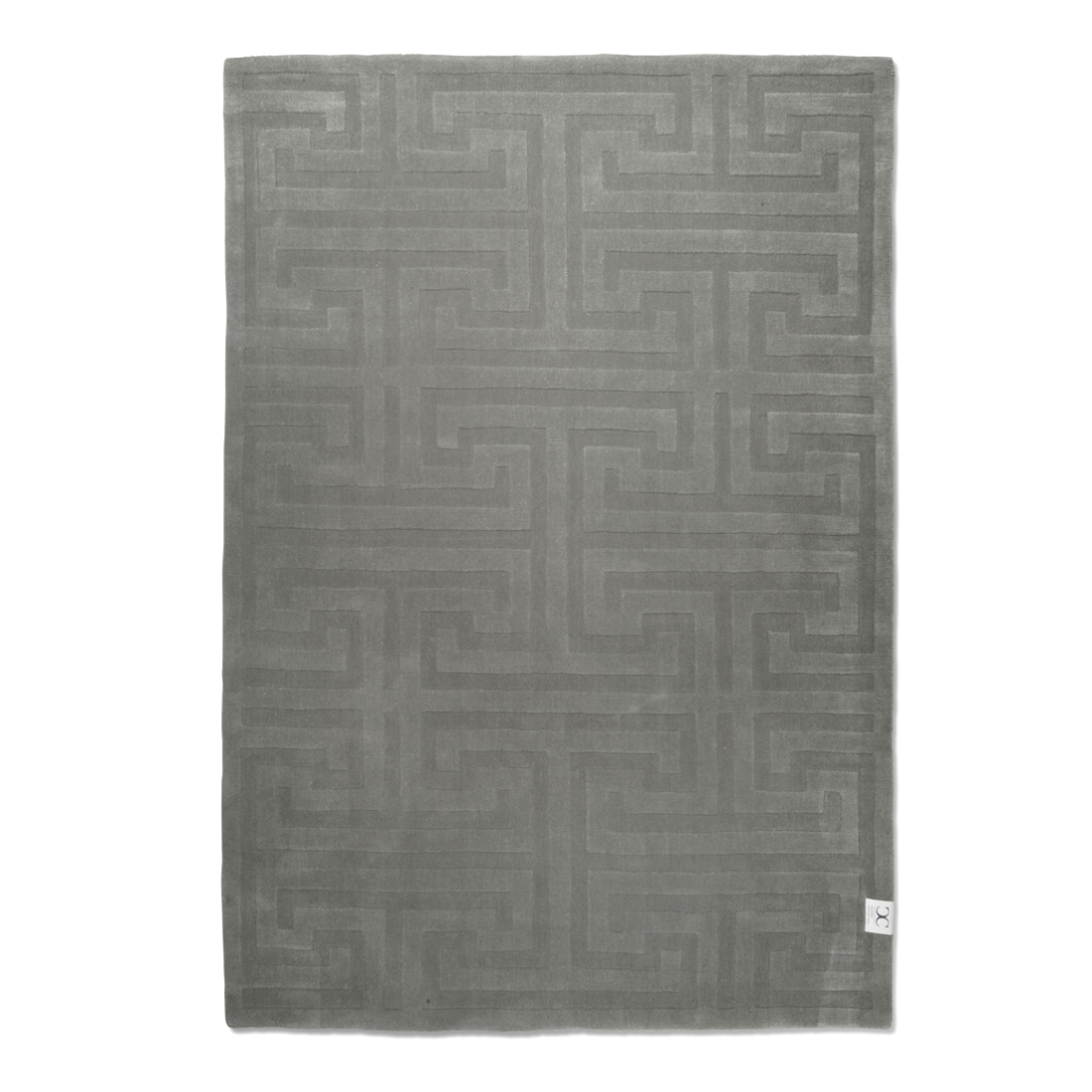 Silvergrå ullmatta KEY WOOL 170 x 230 cm, Classic Collection