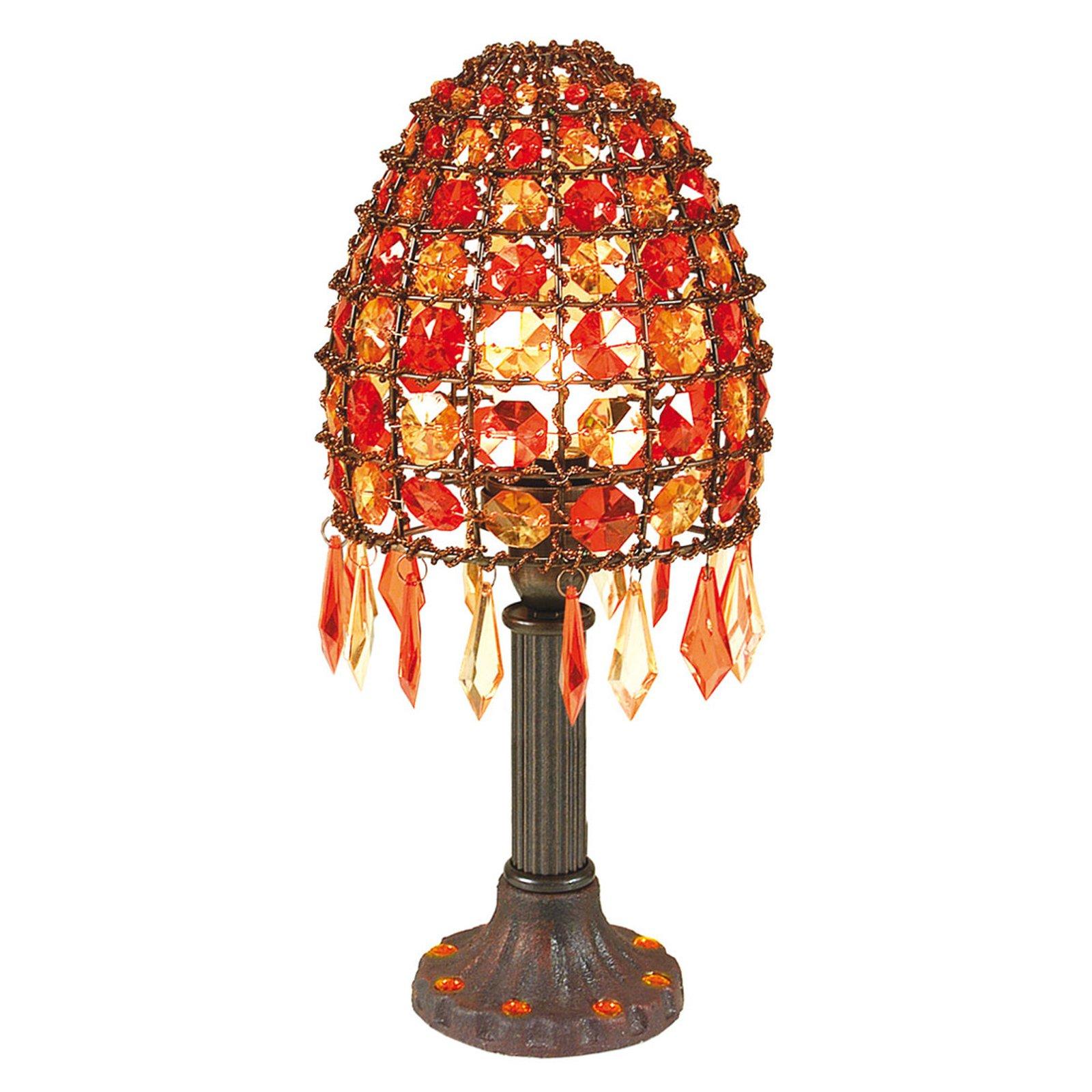 Bordlampe Bella med perler høyde 35 cm