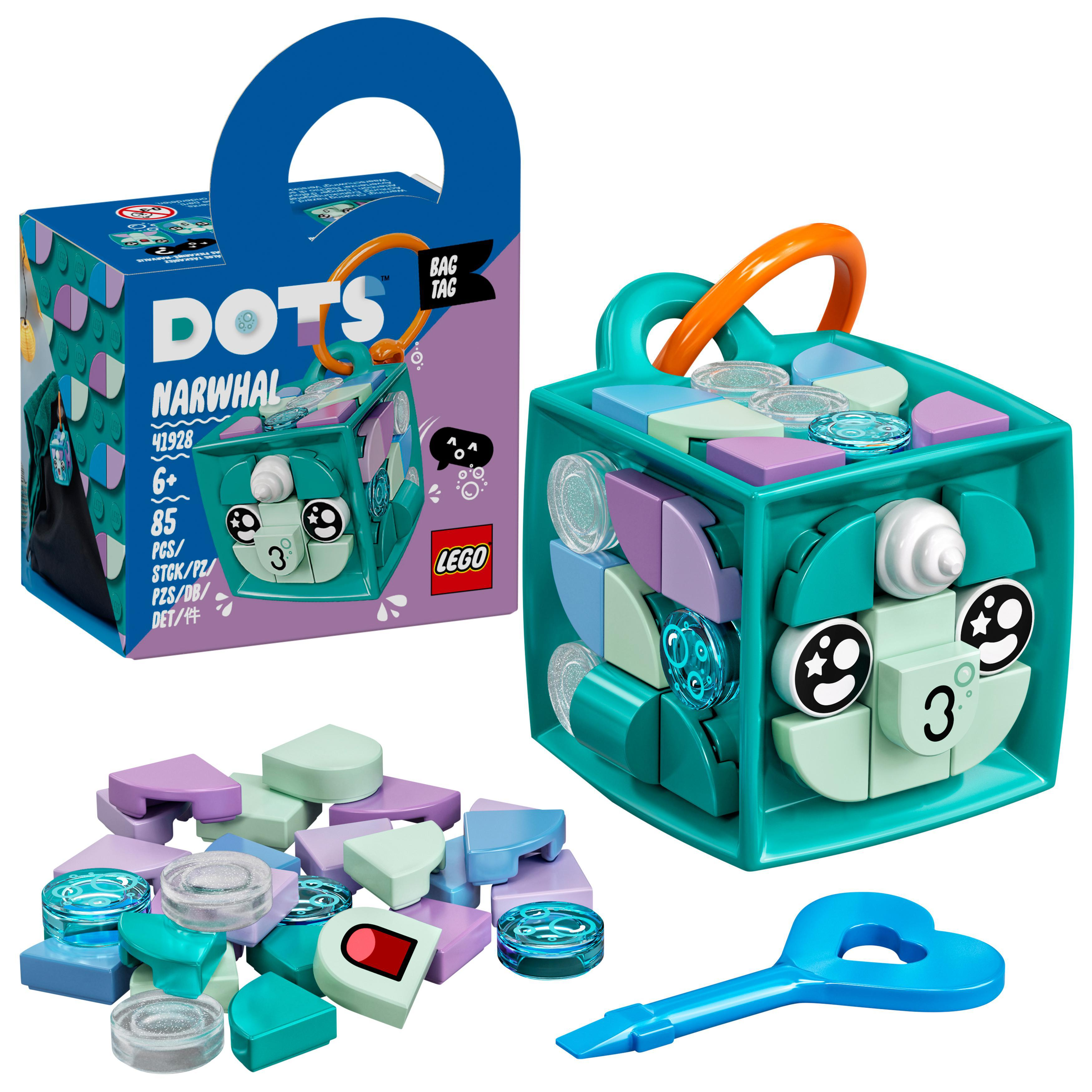 LEGO DOTS - Bag Tag Narwhal (41928)