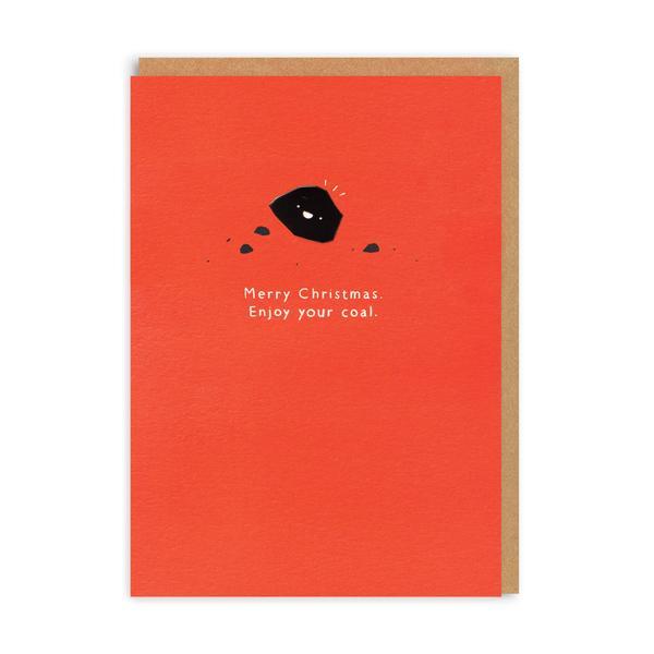 Enjoy Your Coal Enamel Pin Christmas Card