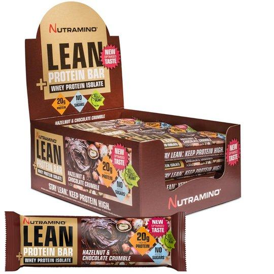 "Hel Låda Proteinbars ""Lean Hazelnut"" 16 x 60g - 46% rabatt"