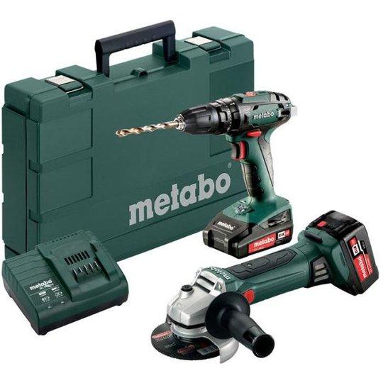 Metabo SB 18 + W 18 LTX 125 QUICK Työkalupaketti sis. akut ja laturin