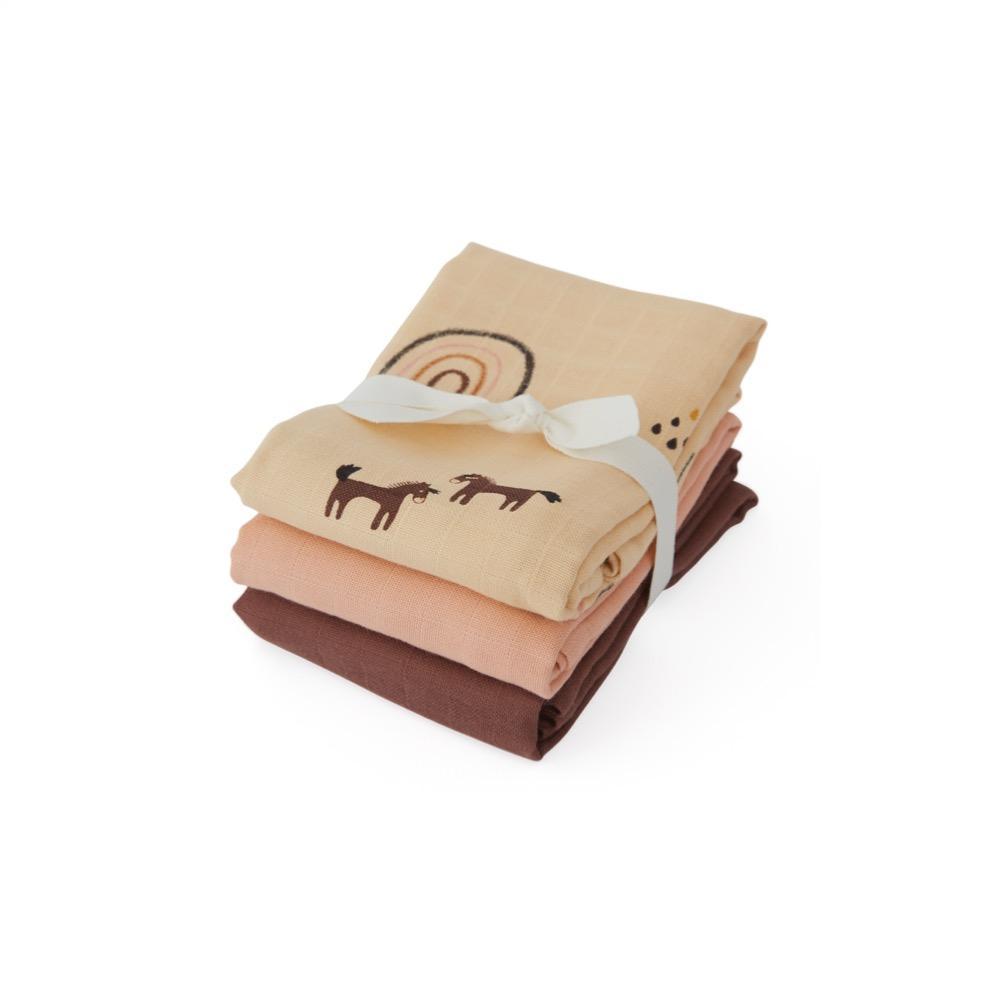 OYOY Mini - Organic Muslin Cloth Square, 3 pc - Rainbow
