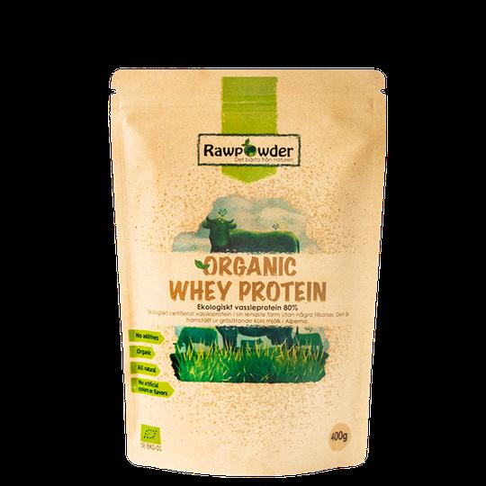 Organic Whey Protein, Vassleprotein 80%, 400 g