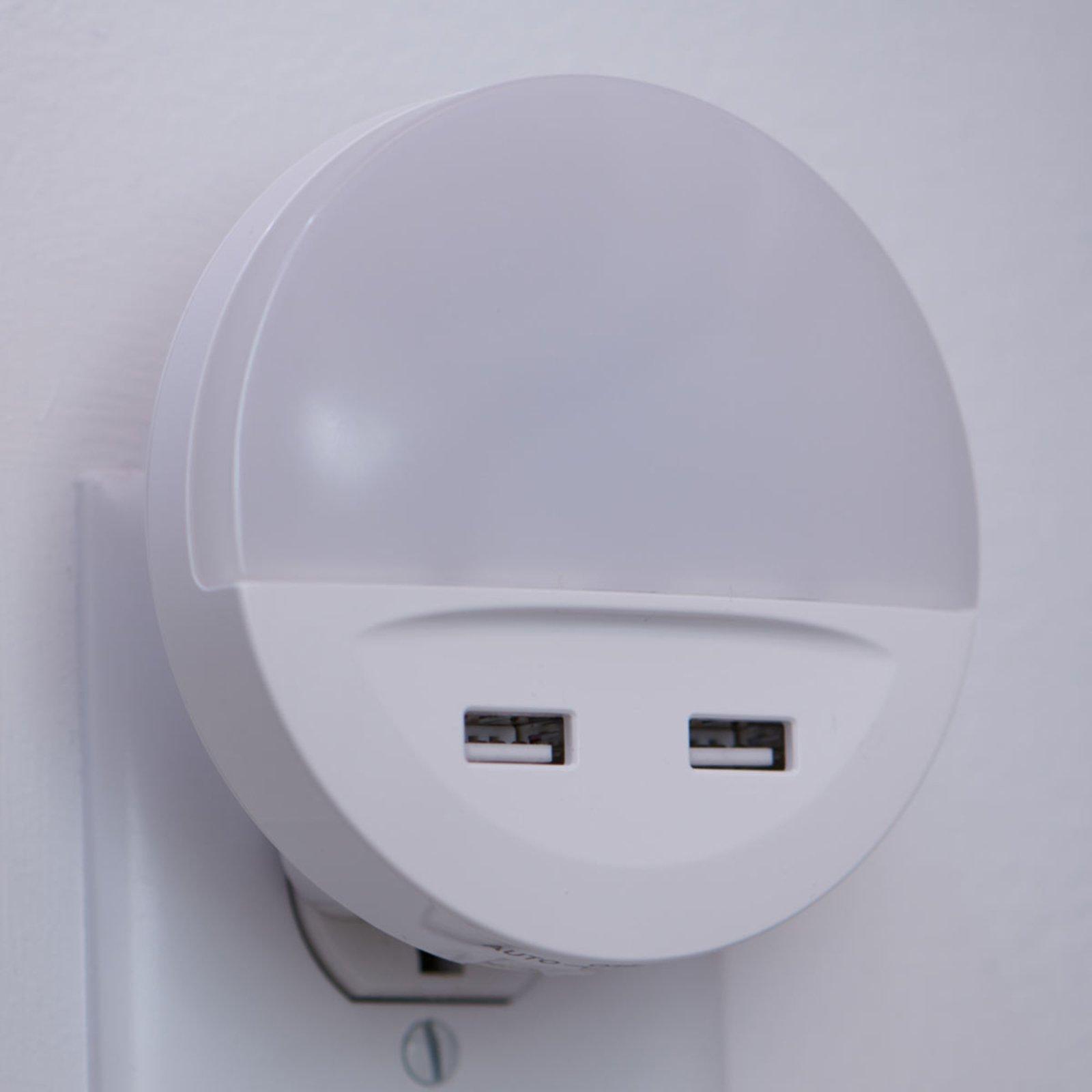LEDVANCE Lunetta USB LED-nattelys med USB-port
