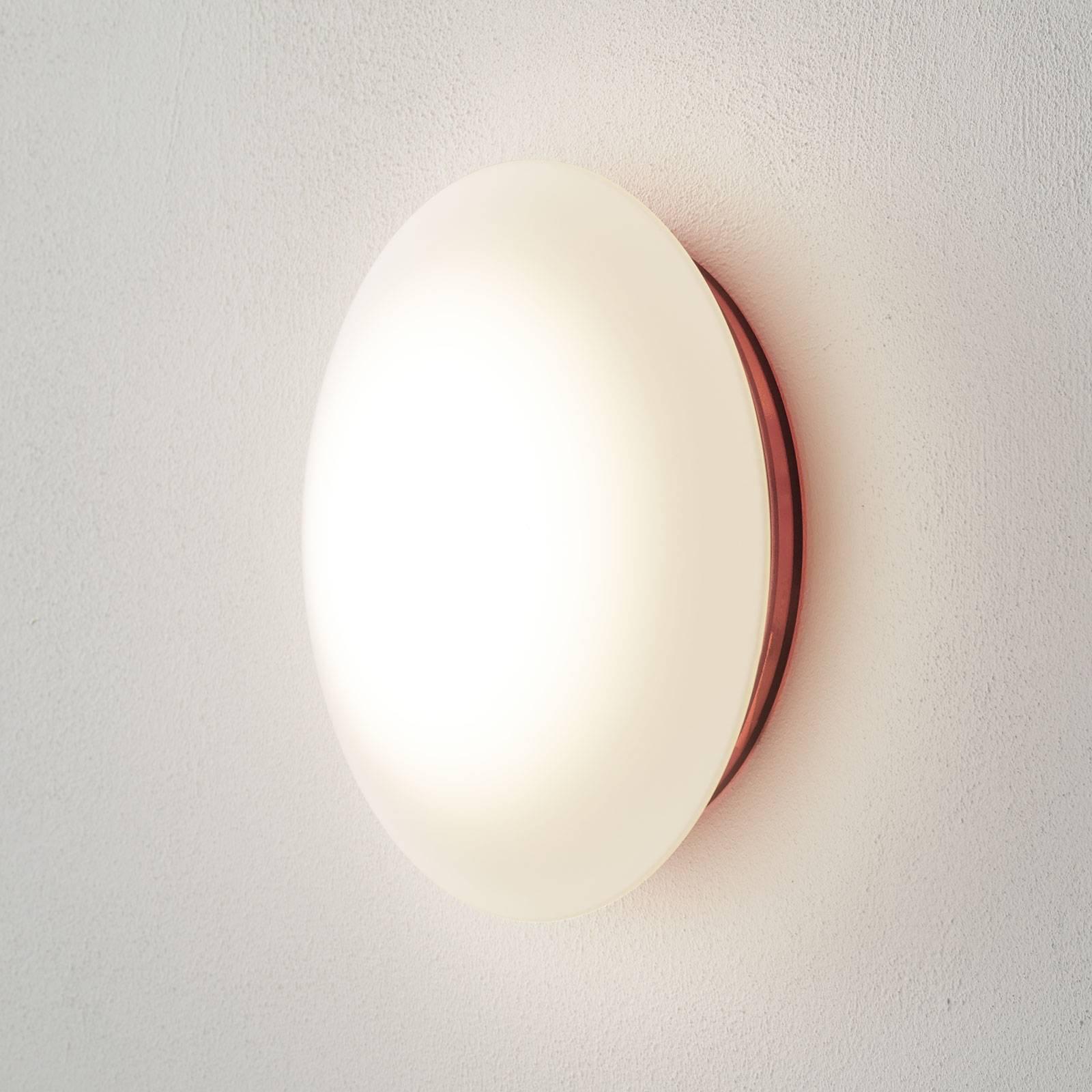 Base i rødt - LED-vegglampe til IP44