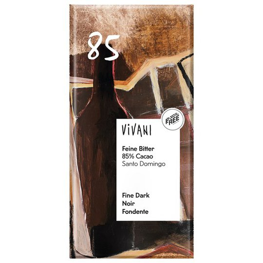 Vivani Ekologisk Mörk Choklad 85%, 100 g