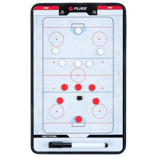 vidaXL Dubbelsidig taktikplatta för ishockey 35x22 cm