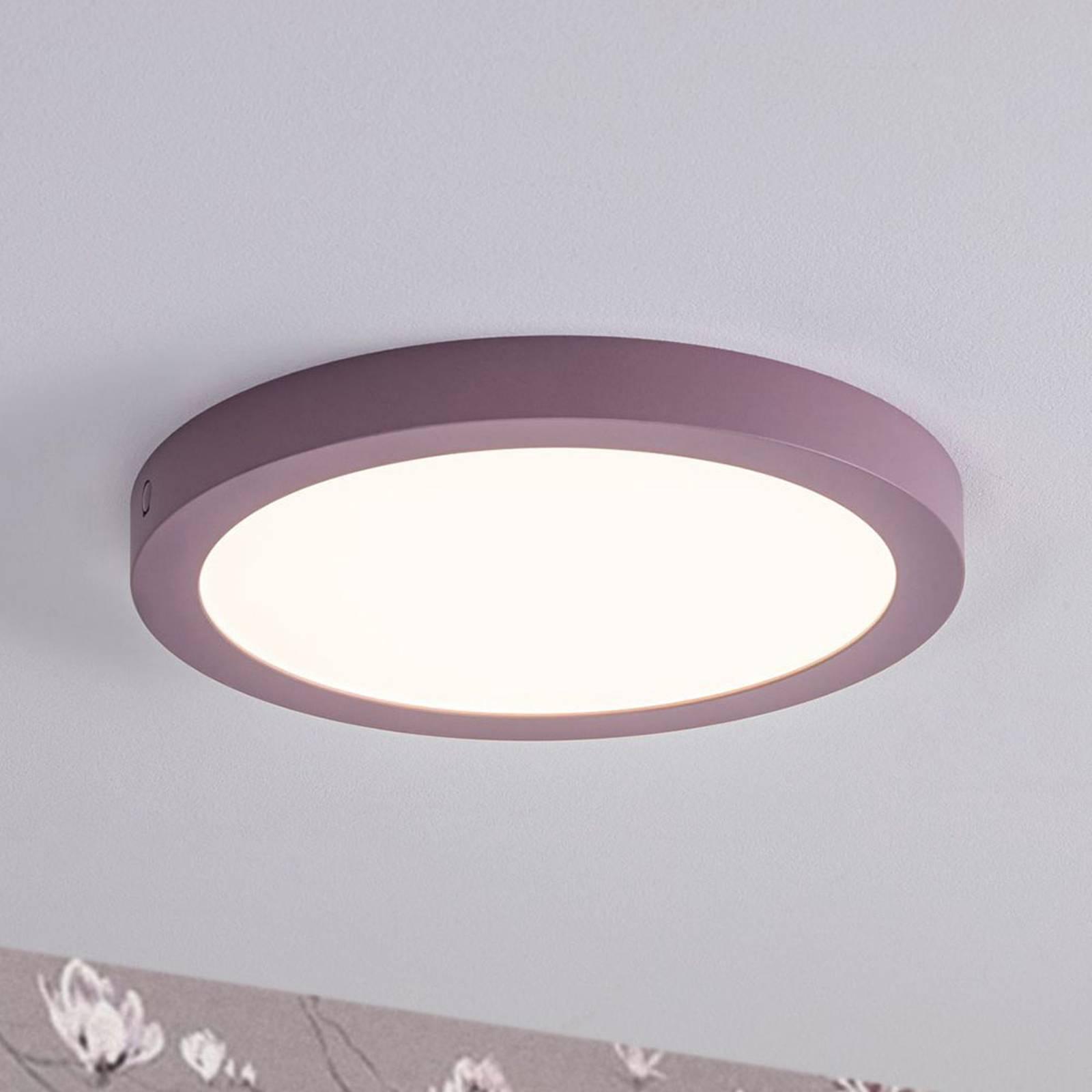 Paulmann-LED-paneeli Abia, pyöreä, Ø 30 cm syreeni