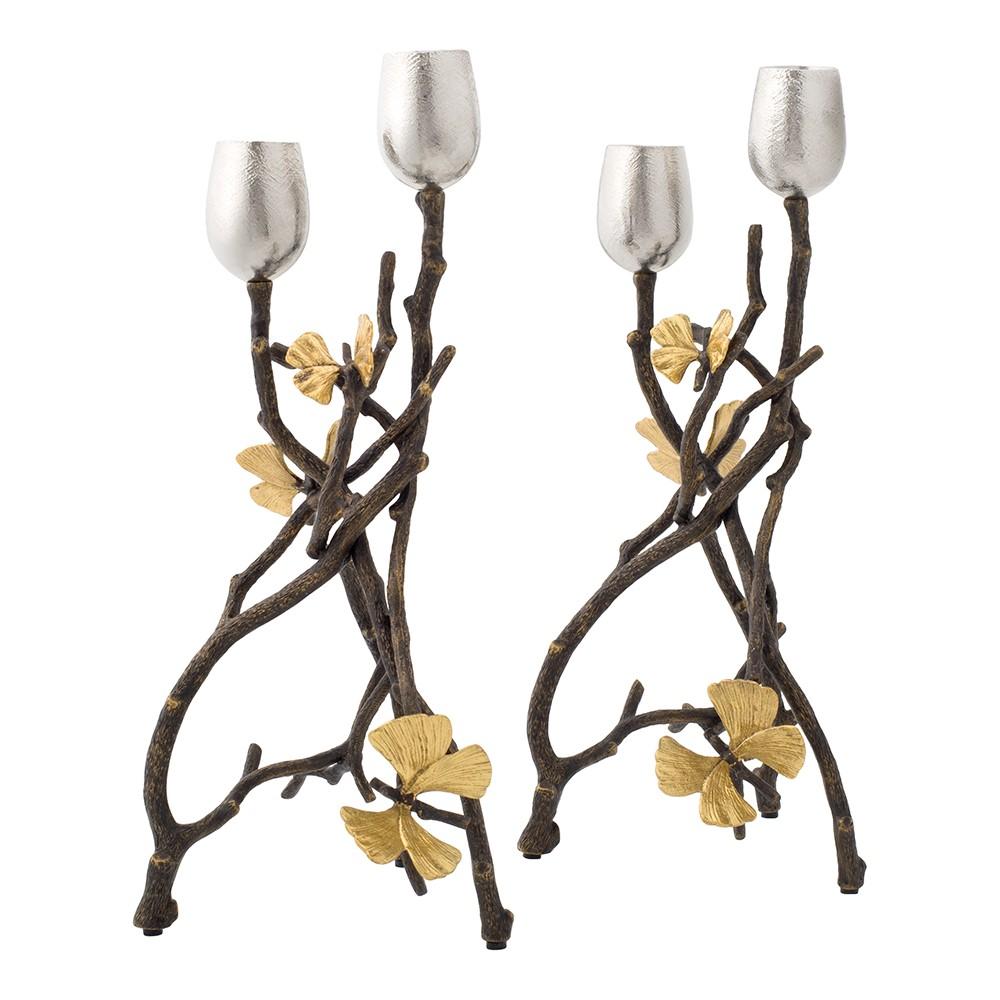 Michael Aram | Butterfly Ginkgo Candleholders - Set of Two