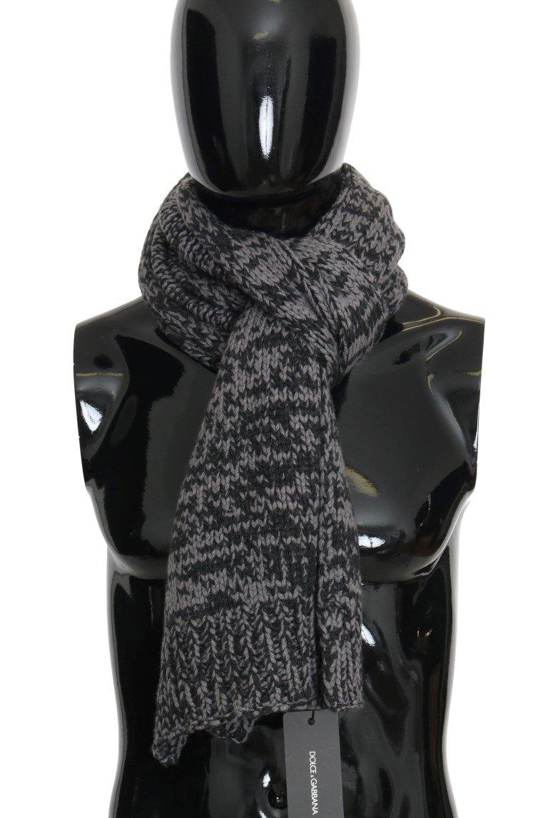 Dolce & Gabbana Men's Cashmere Patterned Scarf Gray MS2084