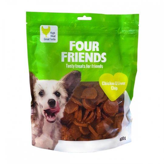 FourFriends Dog Chicken & Liver Chip 400 g