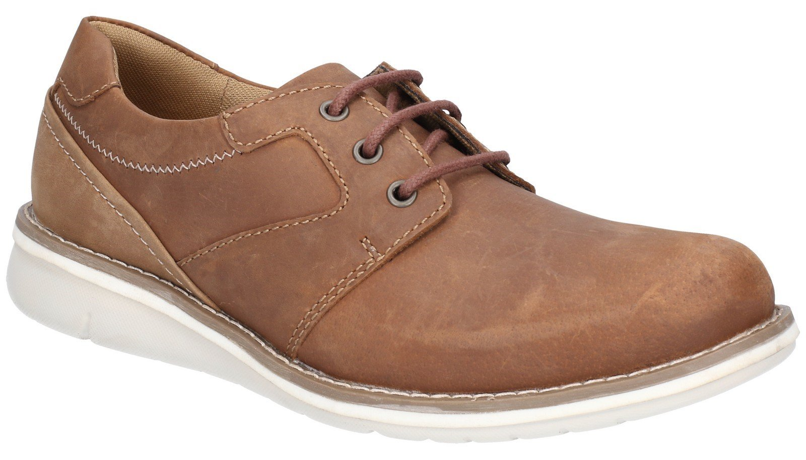 Hush Puppies Men's Chase Casual Lace Up Trainer Various Colours 28352 - Tan/Brown 6