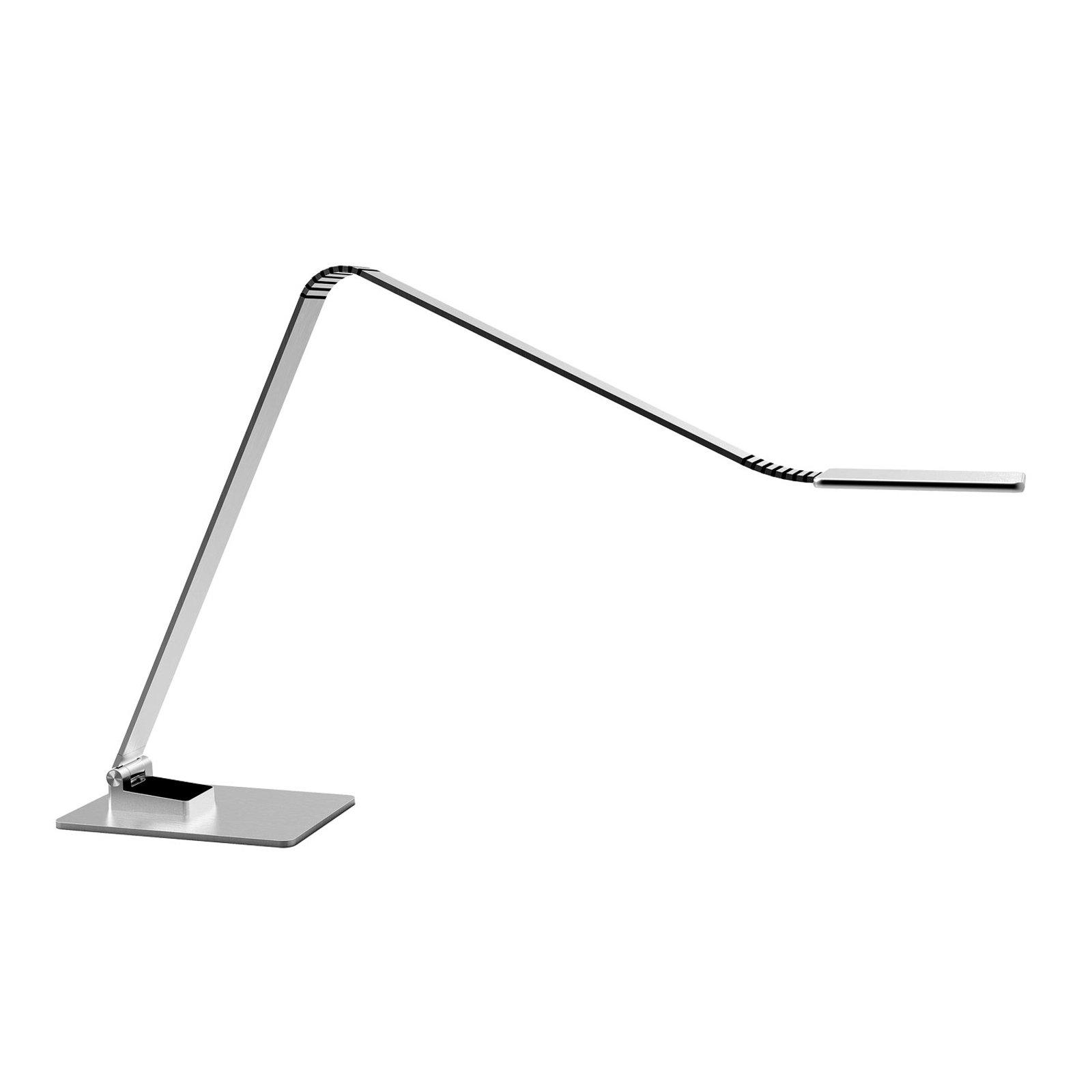 TRAE Muse 2 LED-skrivebordslampe, 4 000 K alu