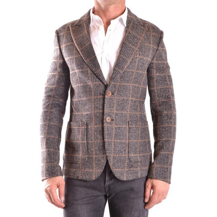 Daniele Alessandrini Men's Blazer Grey 186653 - grey 48