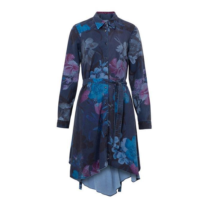 Desigual Women's Dress Blue 185082 - blue M