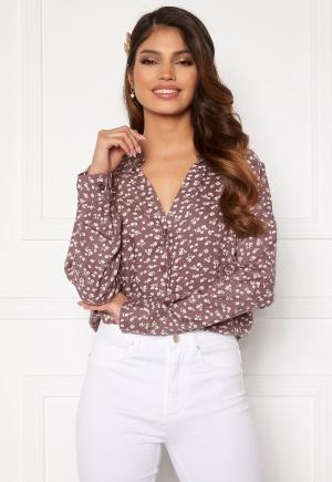 Happy Holly Iris blouse Dusty pink / Beige 52/54