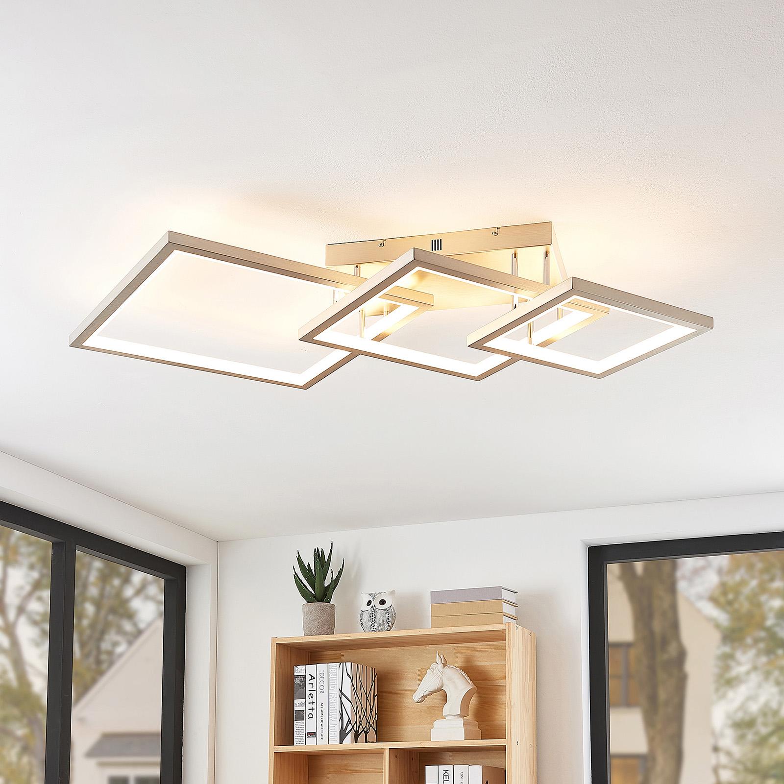 Lucande Avilara -LED-kattovalo, 3 neliötä