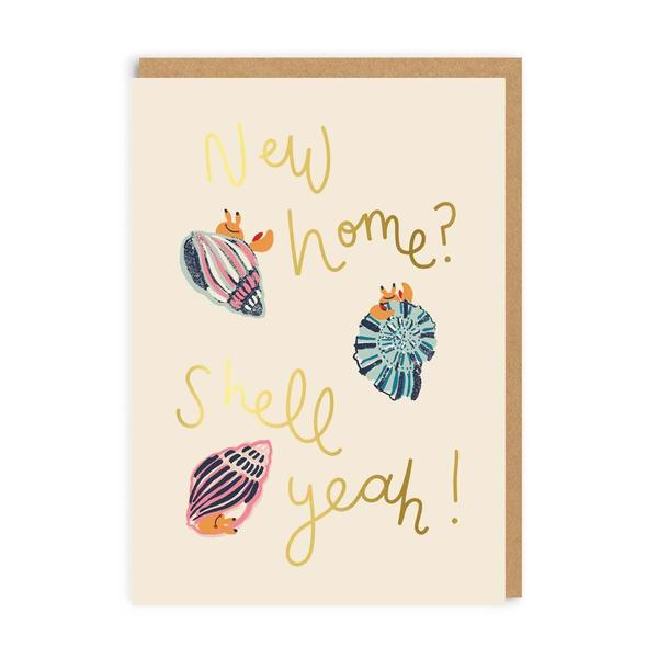 New Home? Shell Yeah! Greeting Card