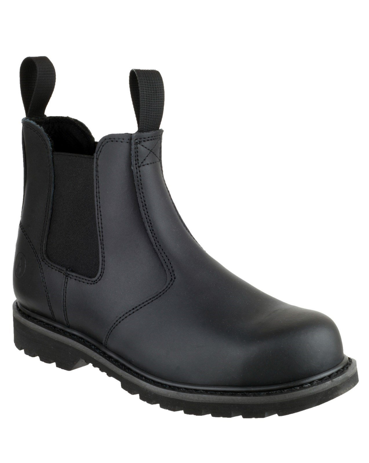 Amblers Unisex Safety Goodyear Welted Pull on Dealer Boot Black 18367 - Black 4