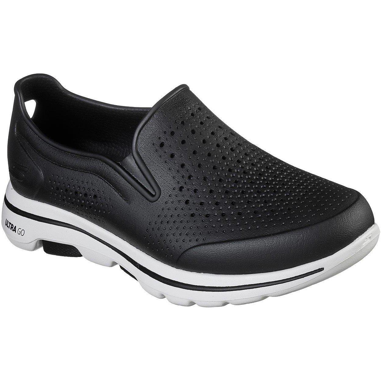 Skechers Men's Go Walk 5 Easy Going Slip On Trainer Multicolor 32391 - Black/White 9