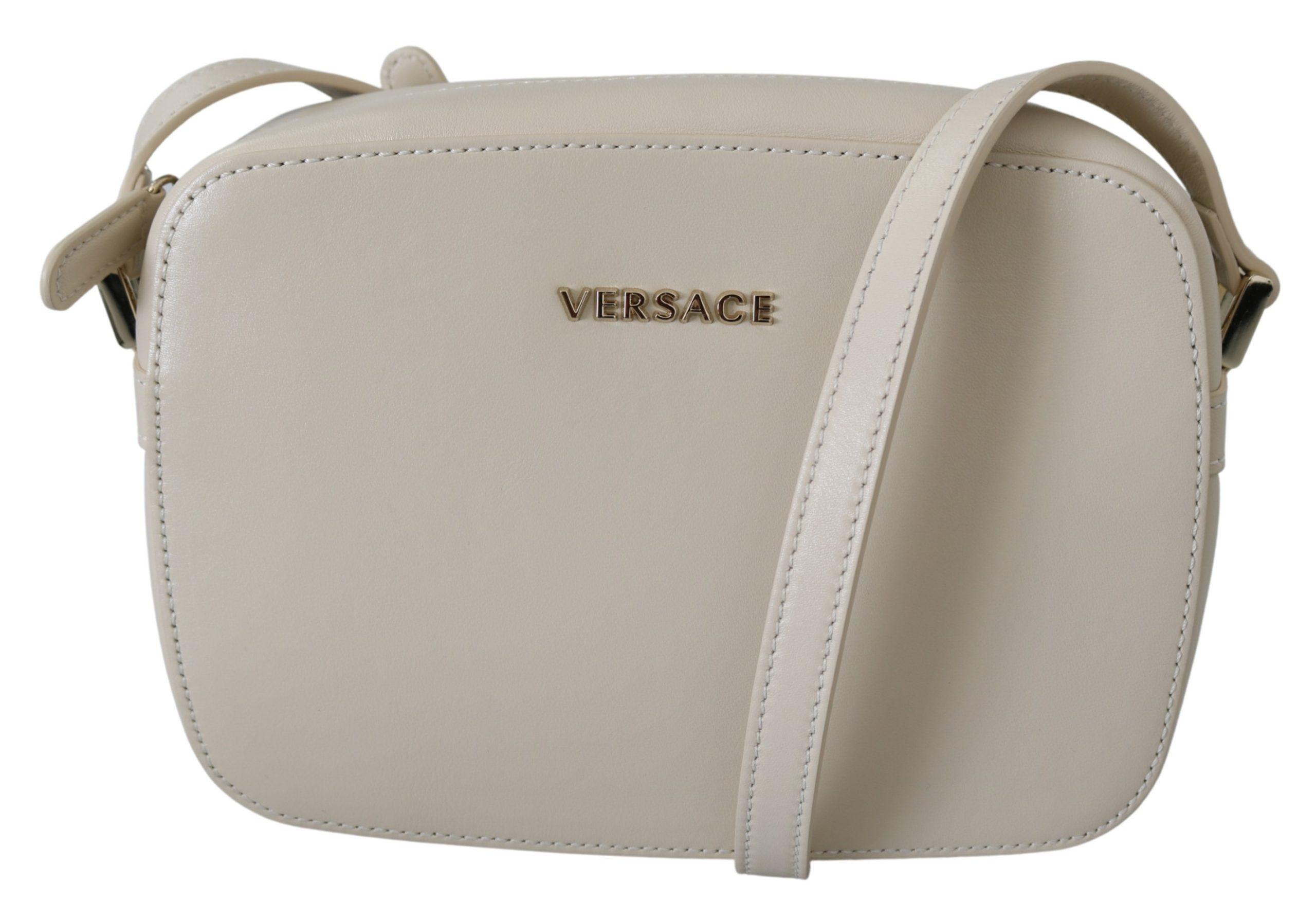 Versace Women's Leather Crossbody Bag Beige 8053850421626