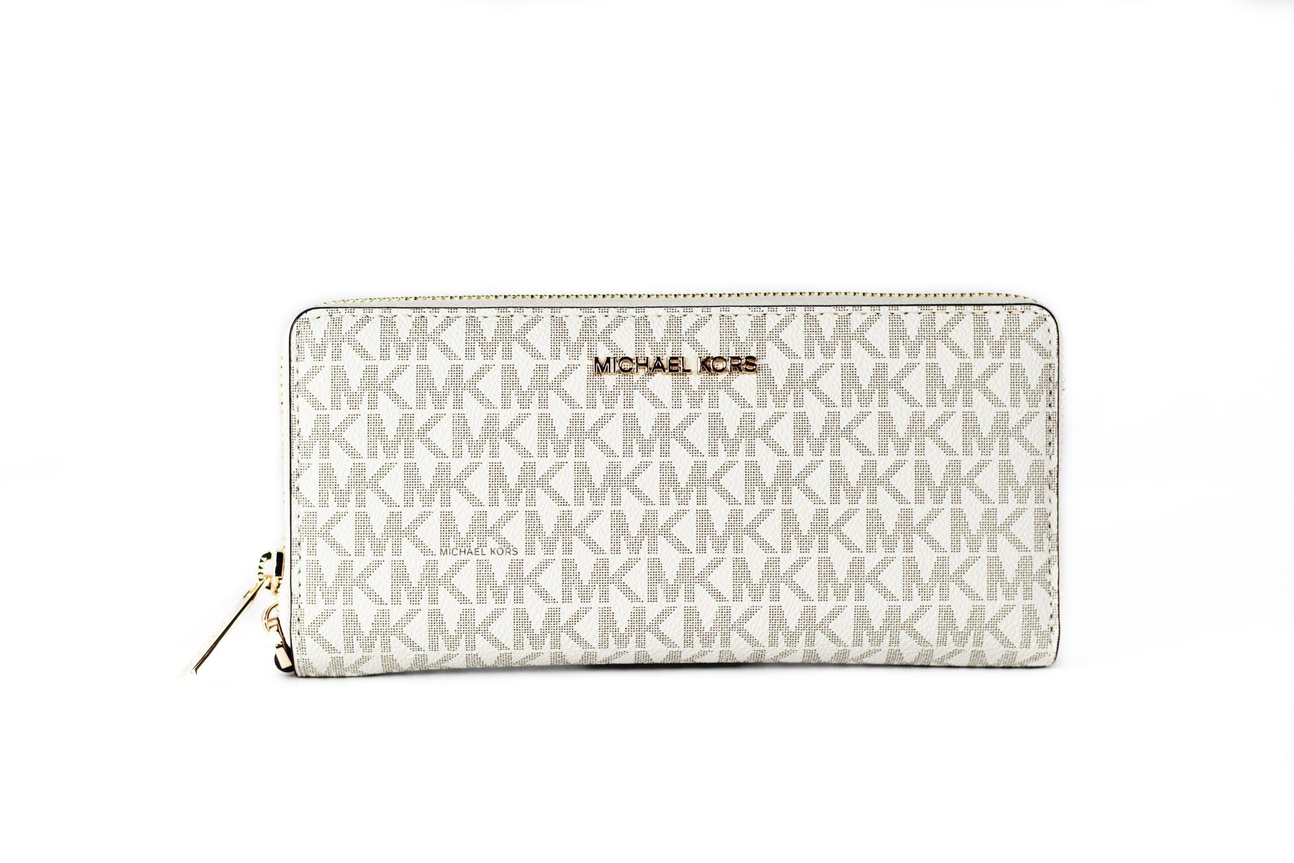 Michael Kors Women's Jet Set Wallet Ivory 38606