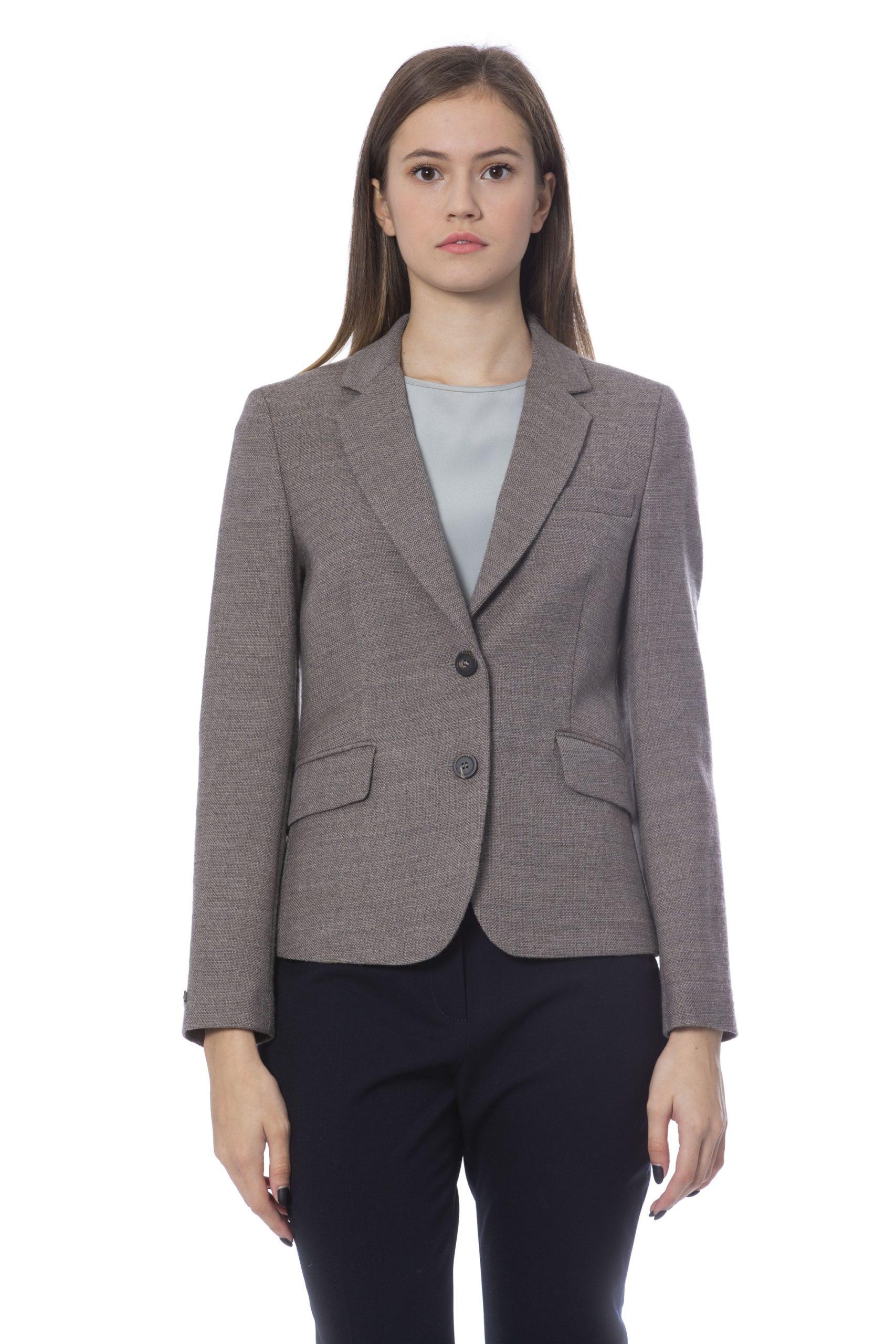 Peserico Women's Jackets Beige PE854568 - IT46 | L
