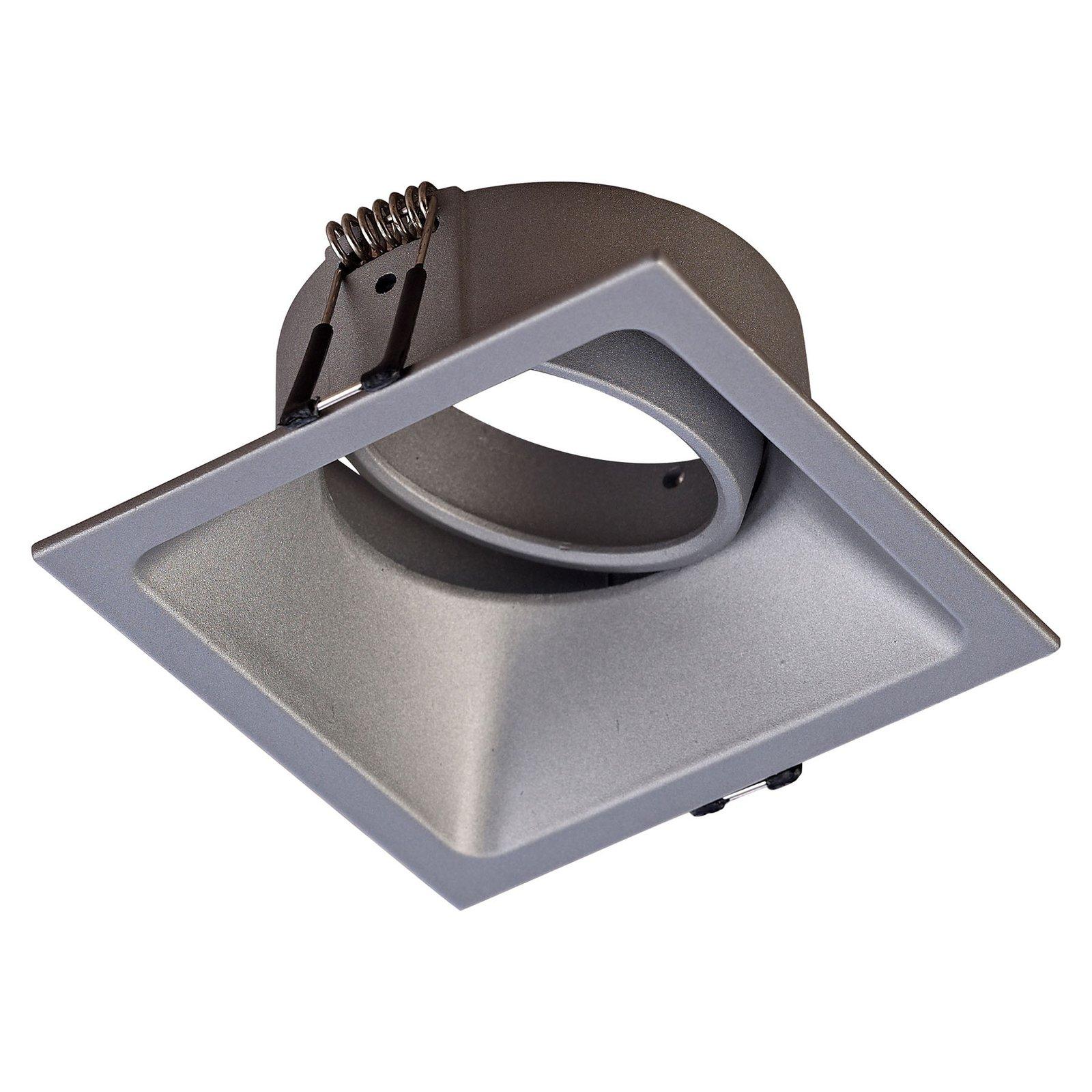 Comfort innfellingslampe, kantet, aluminium