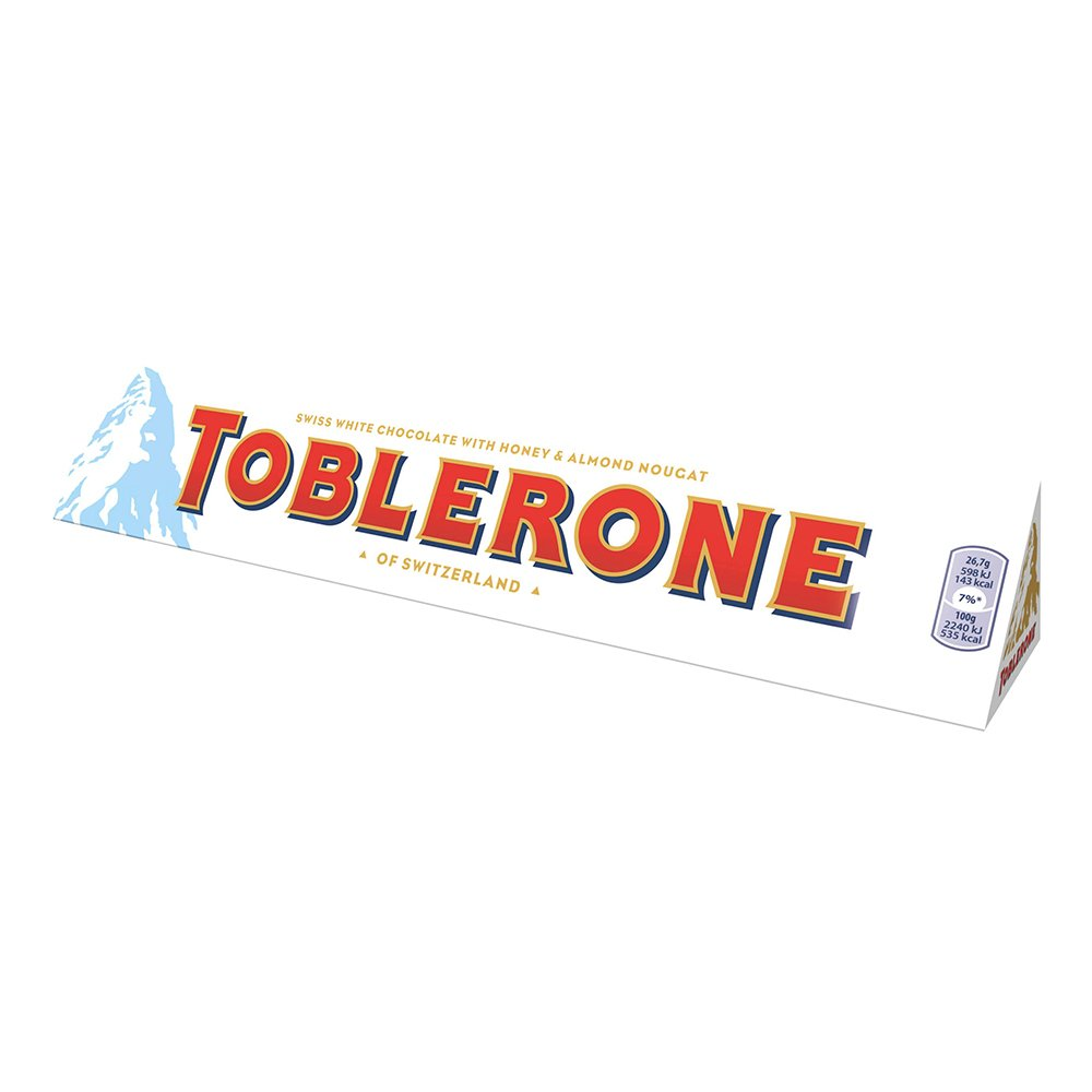 Toblerone Vit - 100 gram