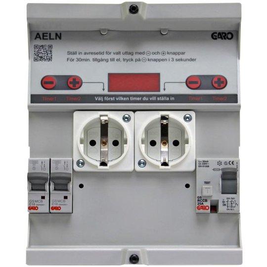 Garo AELN 210-1 Lokerikko Aika- ja lämpötilaohjaus 10 A ilman mittausta, vikavirtasuoja