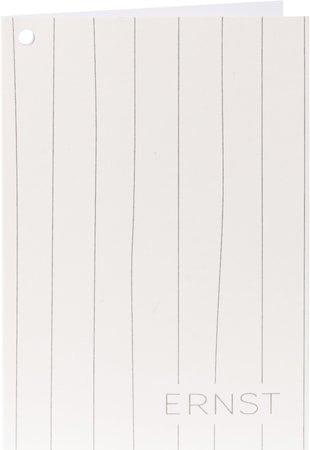 Sitatkort Stripete Hvit/Grå