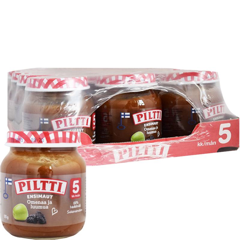 """Laatikollinen Lastenruokaa """"Omenaa & Luumua"""" 12 x 125g - -102% alennus"""