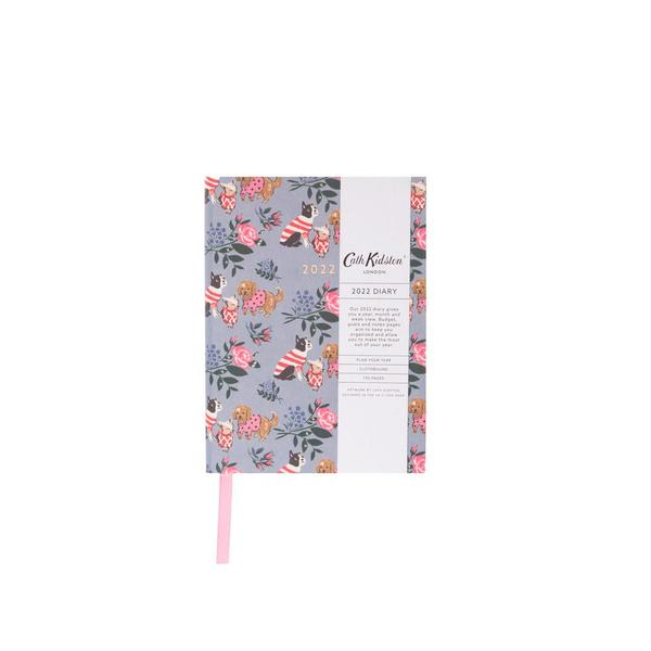 Blue Floral Dogs 2022 Diary A6ish