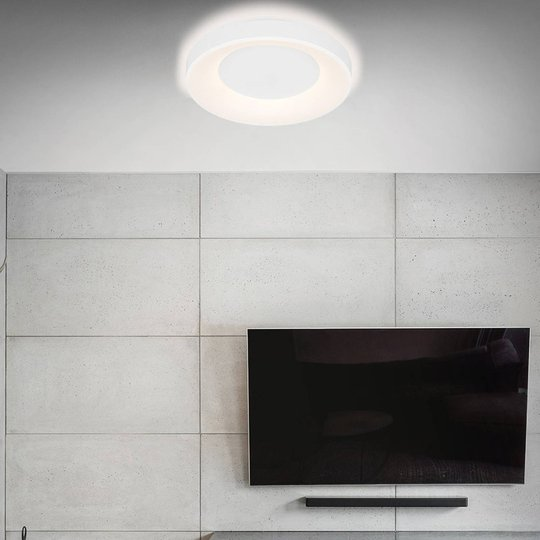 LED-taklampe Rondo CCT-fjernkontroll, hvit